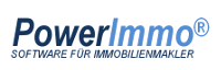 Logo PowerImmo, Software für Immobilienmakler